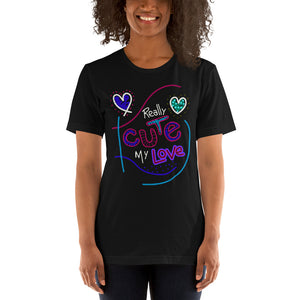 Real Cute Love Shirt | Birthday Gift For Wife | Valentine Gift | Love Shirt |Cute Printed Shirt | Fiance Gift | Gift For Lover | Black Shirt