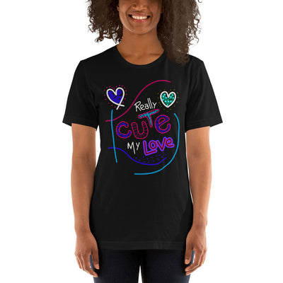 Real Cute Love Shirt | Birthday Gift For Wife | Valentine Gift | Love Shirt |Cute Printed Shirt | Fiance Gift | Gift For Lover | Black Shirt - Storex Sale