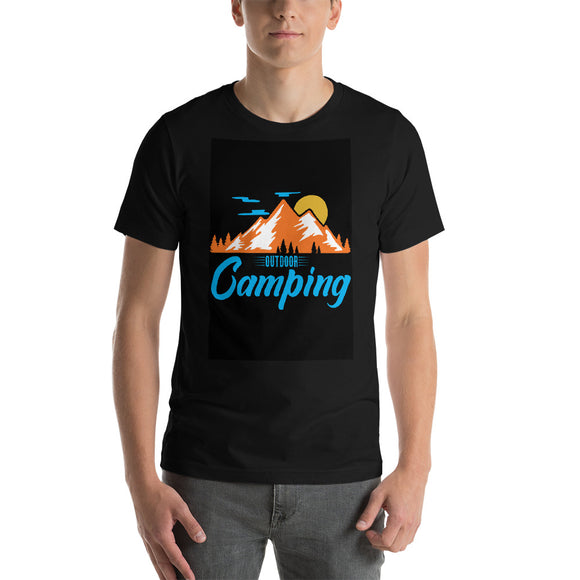 Camping Short-Sleeve Unisex T-Shirt | Camping Tee | Vacation Shirt | Summer Camping Trip | Mountain Shirt | Adventure Shirt | Hiking