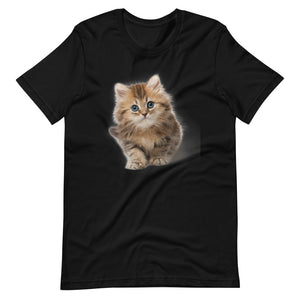Cute Cat | Cat Lovers Gift | Birthday Shirt | Kitten Shirt | Black Cotton T-Shirt | Cat |Short-Sleeve Unisex T-Shirt