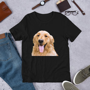 Dog | Love of a Dog | Man's Best Friend | Black T-Shirt | Cotton t-Shirt | Dog Shirt | Dog Lovers | Short-Sleeve Unisex T-Shirt