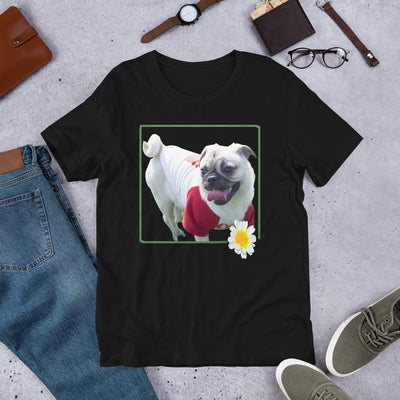 White Dog | Bull Dog | Man's Best Friend | Dog | Love of a Dog | Printed T-Shirt | Black Cotton Shirt | Love Dogs | Short-Sleeve Unisex T-Shirt - Storex Sale