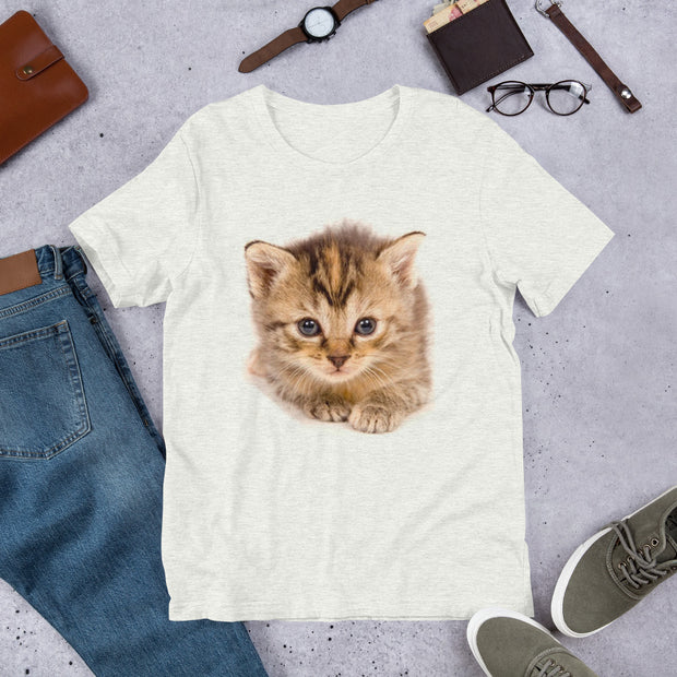 Pretty Cat | Cat Lovers Gift | Cotton T-Shirt | Kitten Shirt | Adorable Cat Shirt | Cat | Gift |Short-Sleeve Unisex T-Shirt - Storex Sale