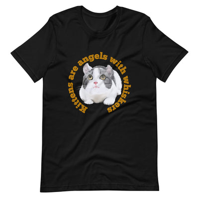 Cat T-Shirt | Cat Lovers | Logo T-Shirt | Design Shirt | Black T-Shirt | Cotton Shirt |Short-Sleeve Unisex T-Shirt - Storex Sale