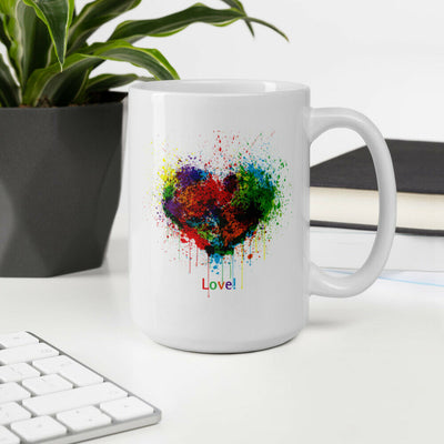 Colorful Painting Heart design - Storex Sale