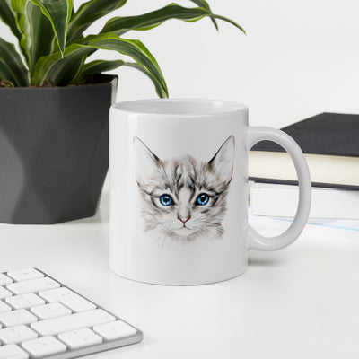 Mug, Cat Mug, Birth day gift, Cute cat, Painting cat, Cat art, Kitten, - Storex Sale