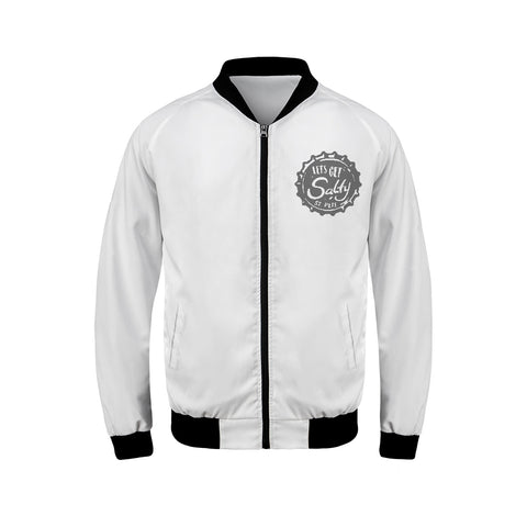 LETS GET SALTY BOMBER JACKET (GREY)