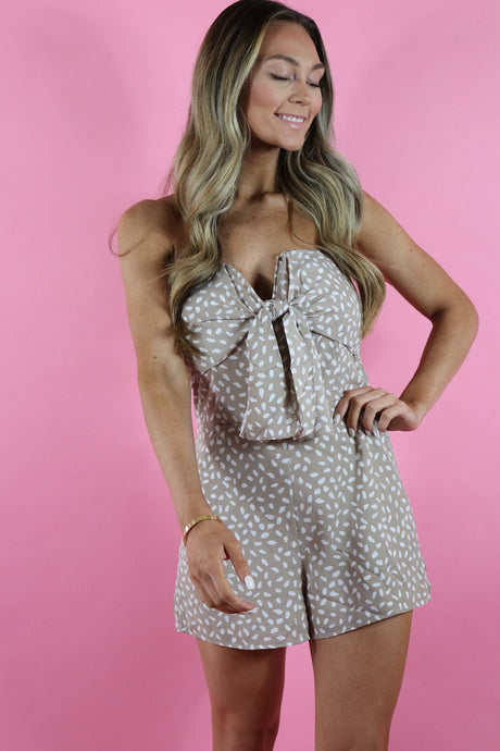 CHARLOTTE SPOTTED ROMPER