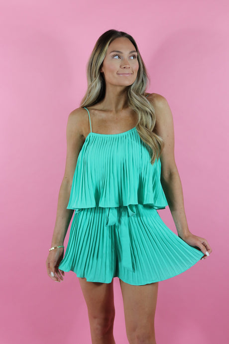 PLEATS AND THANK YOU ROMPER