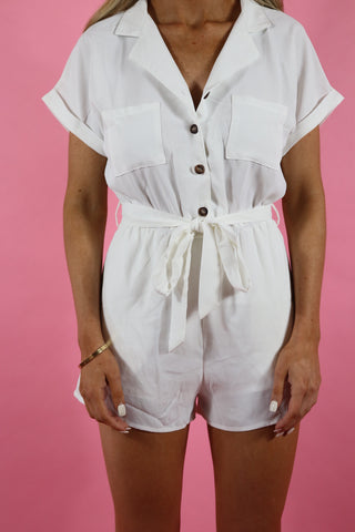NANTUCKET BUTTON DOWN ROMPER
