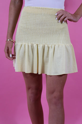 HERE COMES THE SUN MINI SKIRT