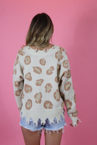 ANIMAL INSTINCTS LEOPARD SWEATER