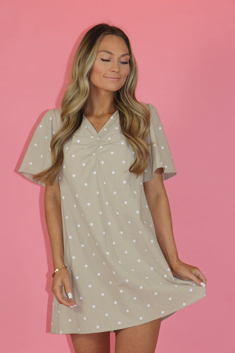 PAIGE POLKA DOT SHIFT DRESS