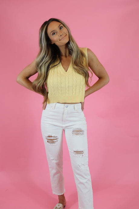 SUMMER FLING WHITE JEANS