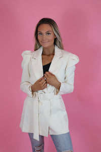 WINTER WHITES BLAZER