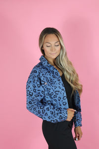 WILD THING LEOPARD DENIM JACKET