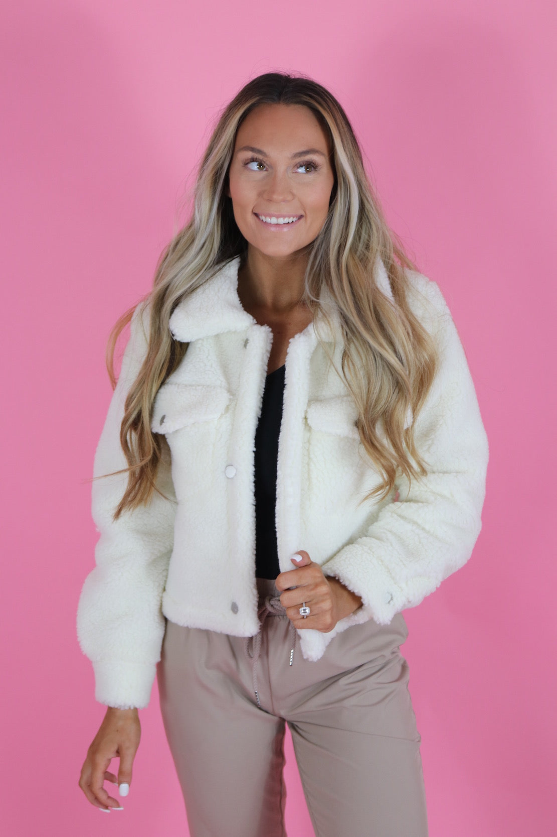 CUDDLE WEATHER CROP JACKET