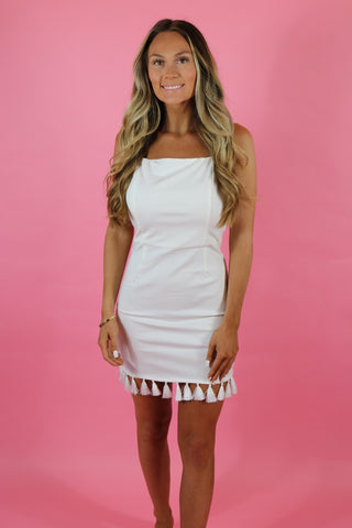 GEMINI TASSEL MINI DRESS