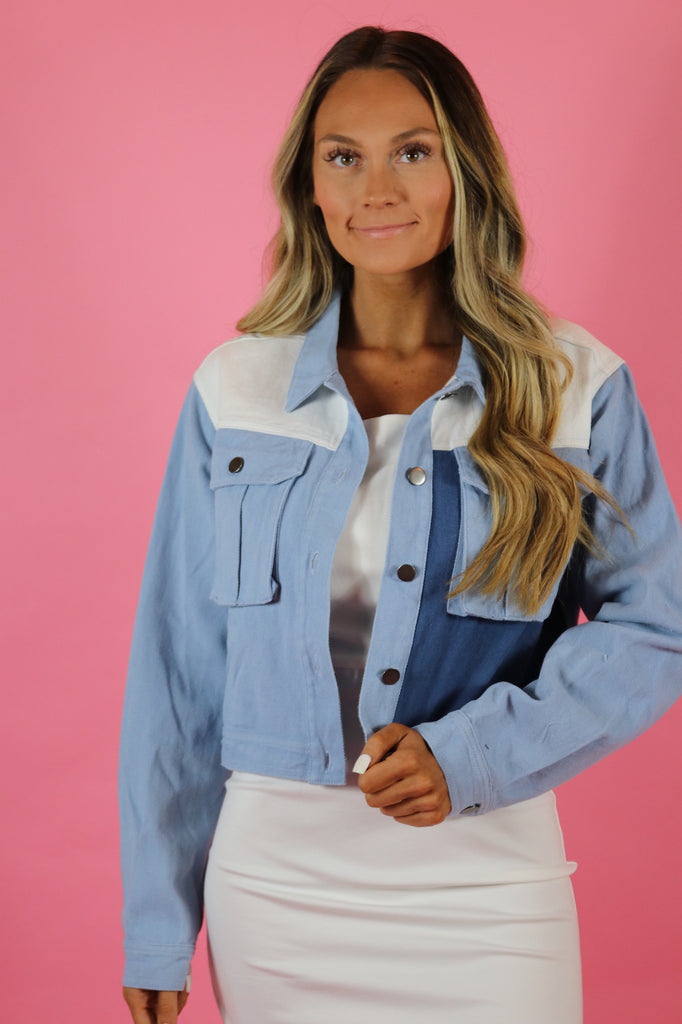 ICONIC COLORBLOCK DENIM JACKET