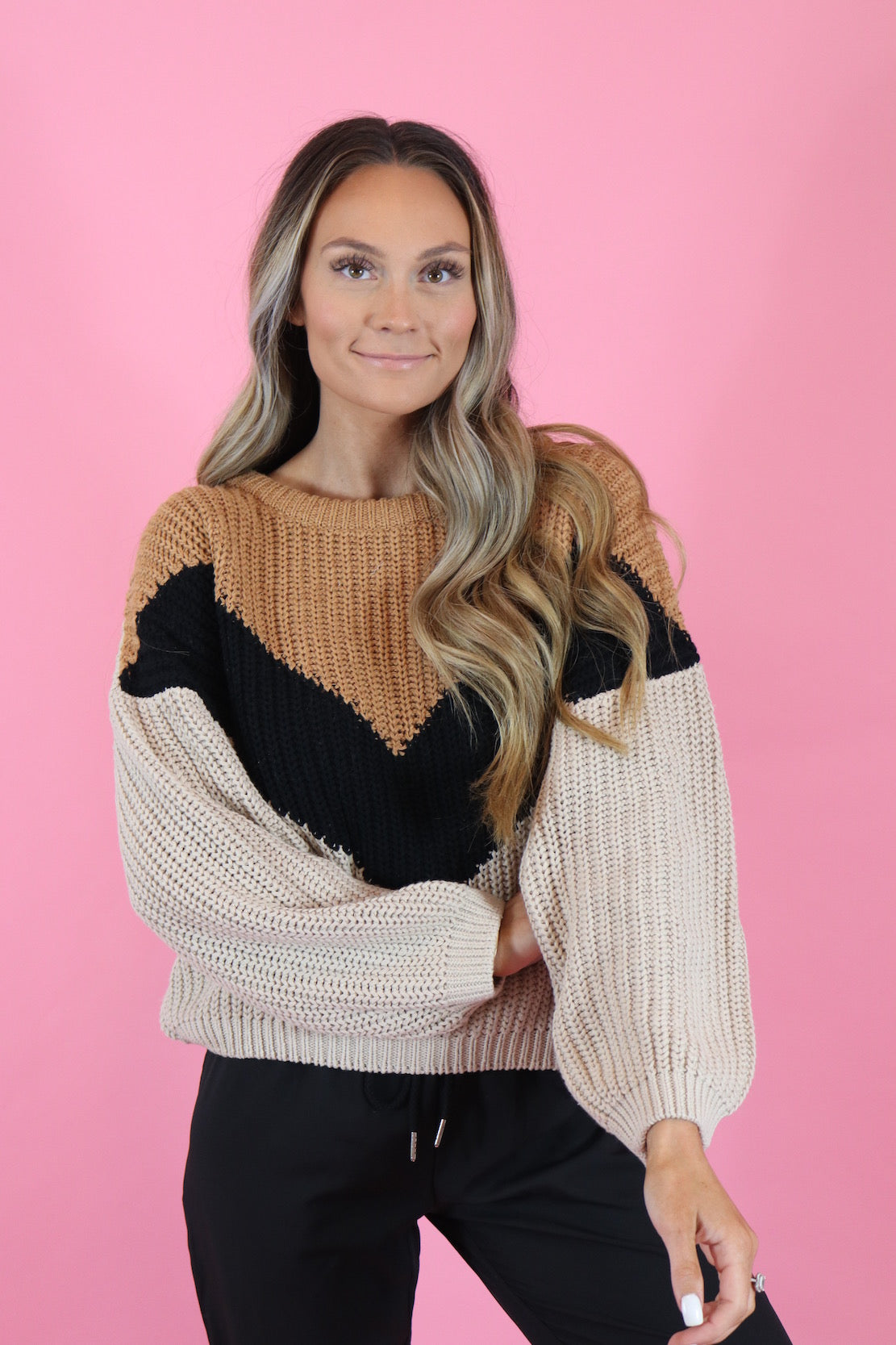 FRESH APPPLE CIDER KNIT SWEATER