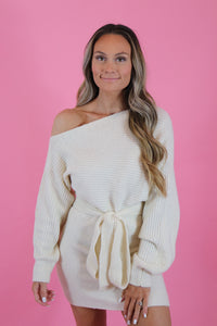 SNOW ANGEL SWEATER DRESS