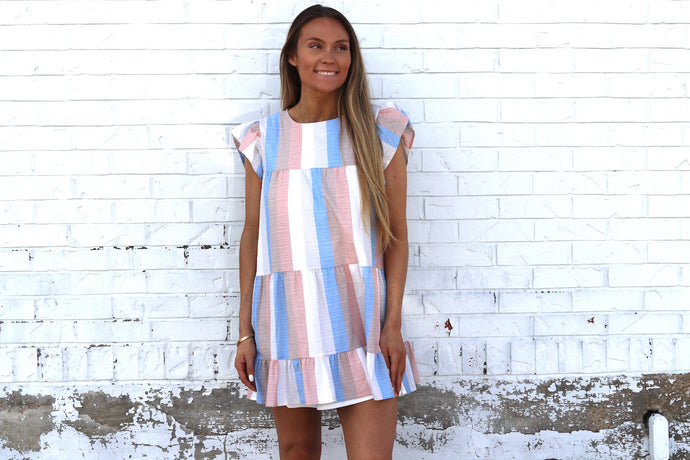 PRETTY IN PASTEL BABYDOLL DRESS
