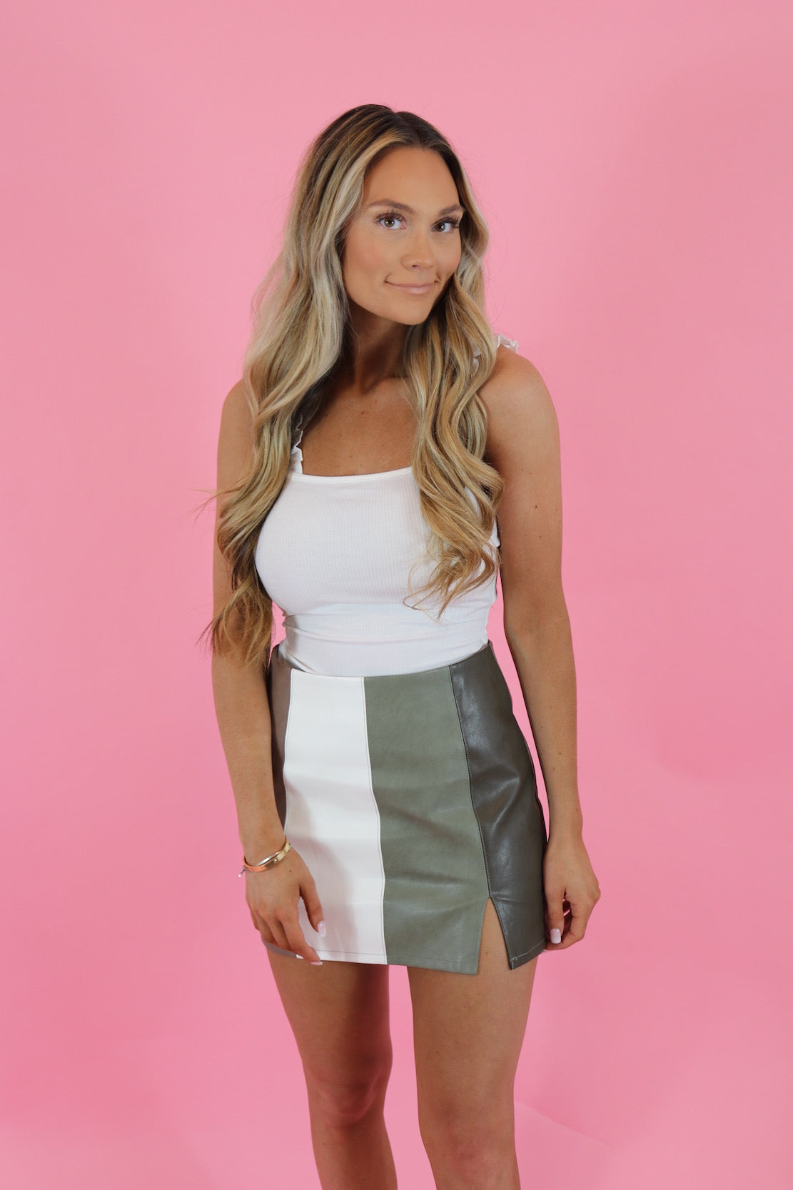 EARTH TONES MINI SKIRT