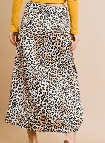 FUN + FLIRTY LEOPARD MIDI SKIRT