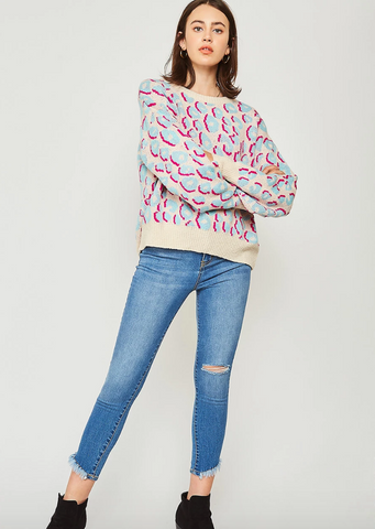 FALLING FOR YOU ANIMAL PRINT SWEATER