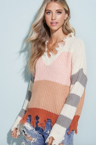 SUCKER FOR STRIPES SWEATER