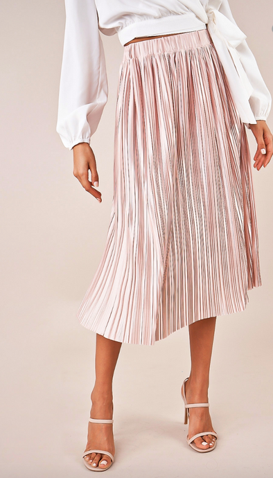 STAY GOLDEN MIDI SKIRT