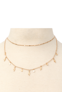 LIGHTNING BOLT LAYERED NECKLACE