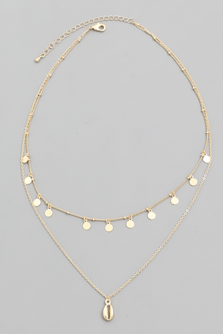 CABO LAYERED SEASHELL NECKLACE