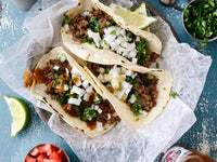 Korean Beef Street Tacos with Kimchi Rice