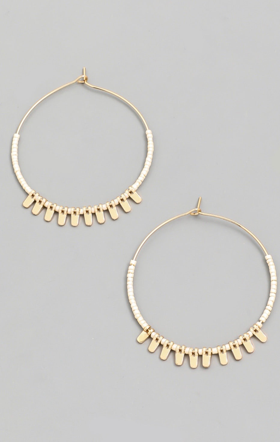 Seed Beaded Hoop Earring