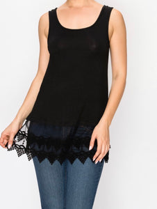 Layered Lace Tank