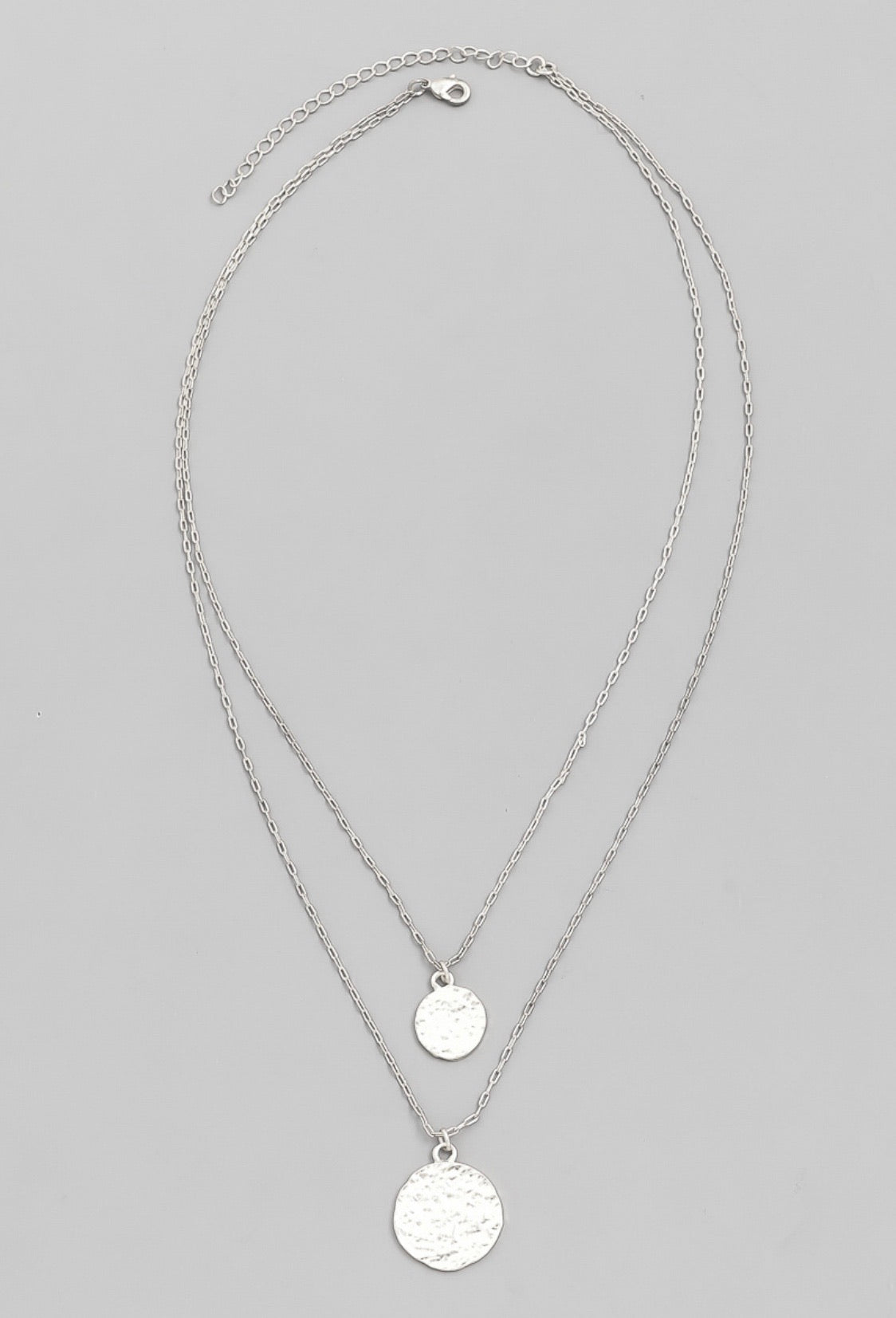 Layered Coin Disc Necklace