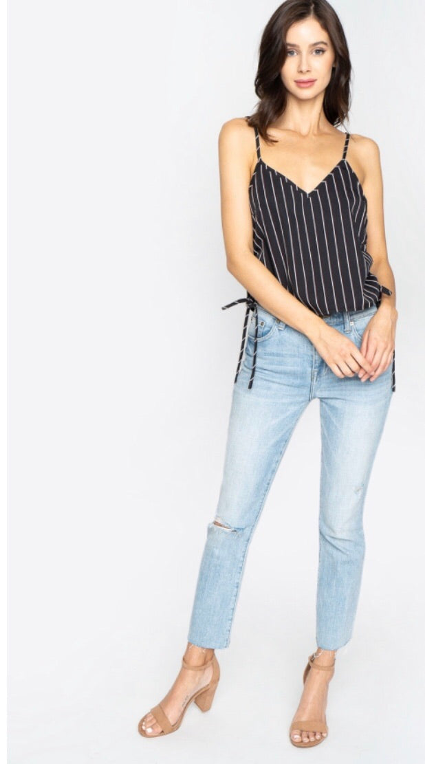 Side Tie Scrunch Top