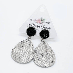 Black & White Snakeskin Dangles