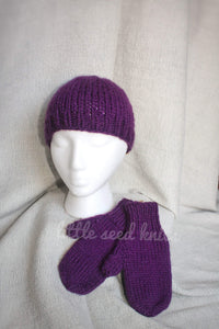 Kids Knit Hat & Mitten Set