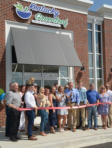 Kentucky Greenleaf grand opening of their CBD store in Georgetown KY