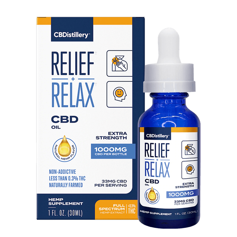 Box, CBDistillery Full Spectrum CBD oil 1000 mg