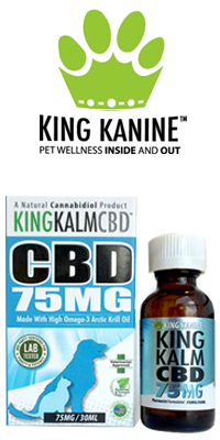 KING KANINE - King Kalm CBD Oil for Pets – 75mg / 30ml