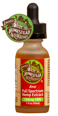 HOMESTEAD ALTERNATIVES - Full Spectrum Hemp CBD Oil - Apple Flavor - 750mg