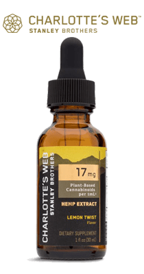 Bottle, Charlotte's Web CBD Oil - Lemon Twist - 17mg per ml