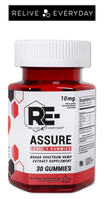 RE-LIVE EVERYDAY - Re-Assure Broad Spectrum CBD Gummies - 10mg / 30 Count