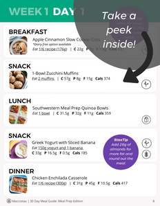 30 Day Meal Guide: Meal Prep Edition
