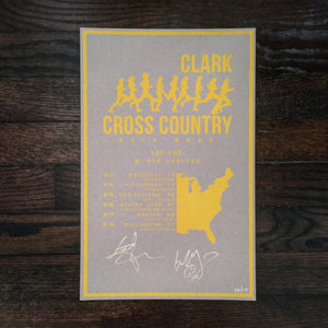 Limited Edition Signed Clark Cross Country Summer 2019 Tour Poster