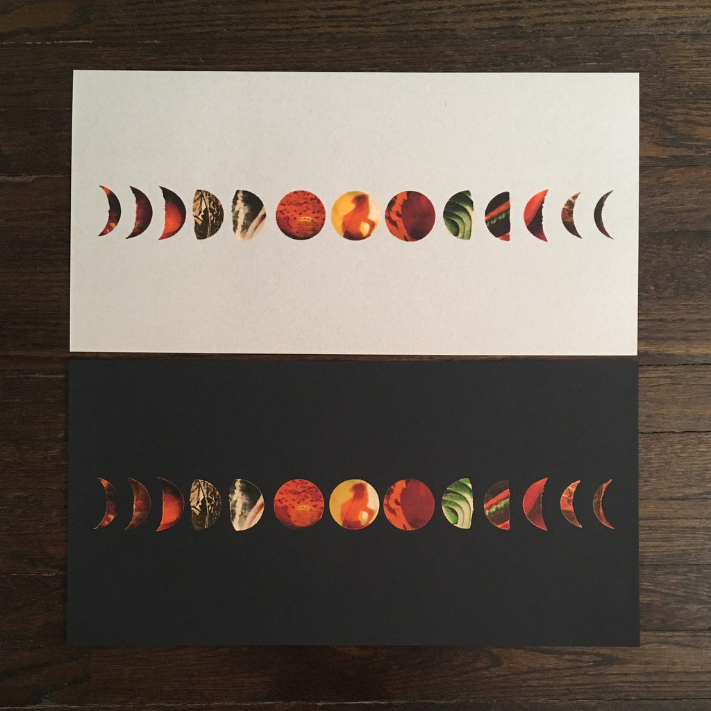 "Signed & Numbered 24x12"" Black Moon Phase Screenprint, Limited Edition of 4"