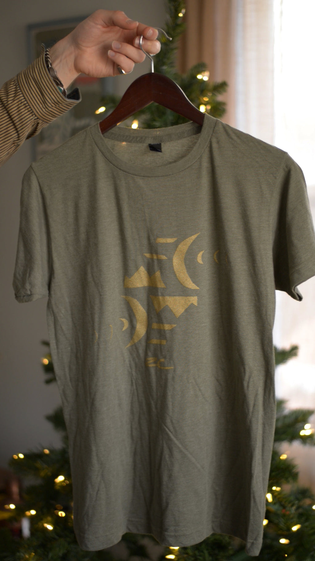 ZC Green & Gold Moon Icon T-shirt